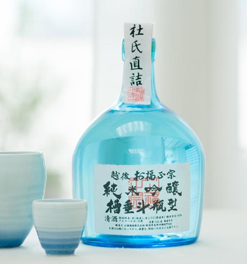 お福酒造 越後お福正宗純米吟醸槽垂斗瓶型