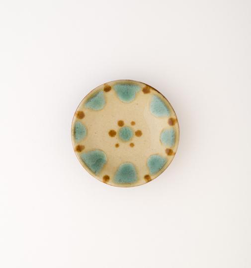ノモ陶器 沖縄やちむん 緑釉 3寸皿